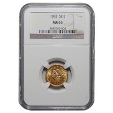 1893 Ngc MS66 $2.50 Liberty Head Gold