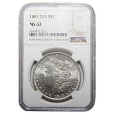 1882-O/S Ngc MS63 Strong Morgan Dollar