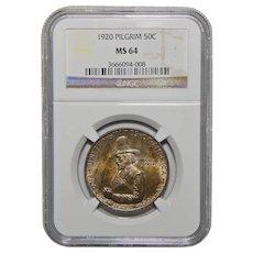 1920 Ngc MS64 Pilgrim Half Dollar