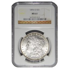 1896-O Ngc MS61 Morgan Dollar