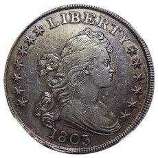1803 Ngc AU50 Large-3 Draped Bust Dollar