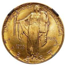 1926 Ngc MS65 $2.50 Sesquicentennial Gold