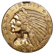 1915-S Ngc MS64 $5 Indian Gold