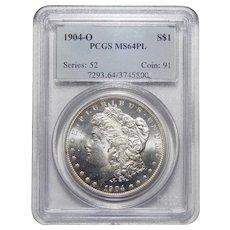 1904-O Pcgs MS64PL Morgan Dollar