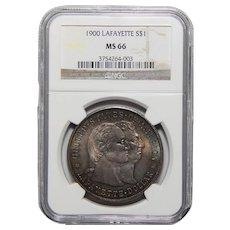 1900 Ngc MS66 Lafayette Dollar