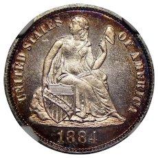 1884 Ngc PF68 Liberty Seated Dime