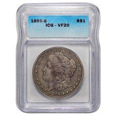 1895-S Icg VF20 Morgan Dollar
