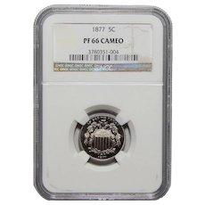 1877 Ngc PF66CAM Shield Nickel