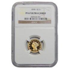 1898 Ngc PF67 Ultra Cameo $2.50 Liberty Head Gold