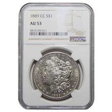 1889-CC Ngc AU53 Morgan Dollar