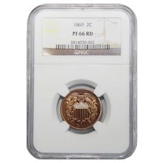 1869 Ngc PF66RD Two-Cent
