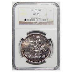 1877-S Ngc MS63 Trade Dollar