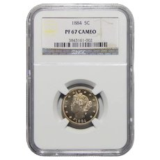 1884 Ngc PF67CAM Liberty Nickel