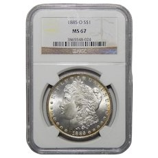 1885-O Ngc MS67 Morgan Dollar