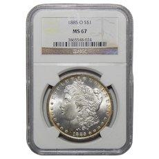 1885-O Ngc MS67 Morgan Dollar