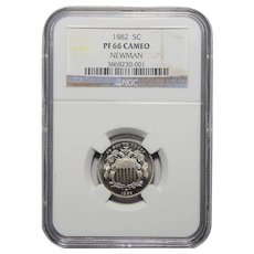 1882 Ngc PF66CAM Shield Nickel (Newman Collection)