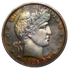 1905 Ngc PF66+ Barber Half Dollar