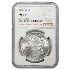 1880-O Ngc MS64 Morgan Dollar