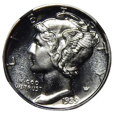 1939 Ngc PF67 Mercury Dime