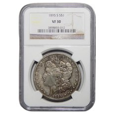 1895-S Ngc VF30 Morgan Dollar