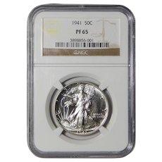 1941 Ngc PF65 Walking Liberty Half Dollar