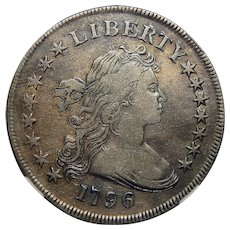 1796 Ngc VF30 Large Date, Sm Letters Draped Bust Dollar