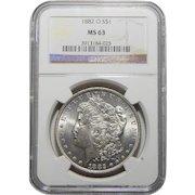 1882-O Ngc MS63 Morgan Dollar