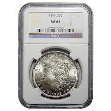 1896 Ngc MS65 Morgan Dollar