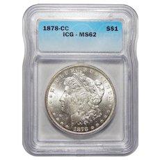 1878-CC Icg MS62 Morgan Dollar