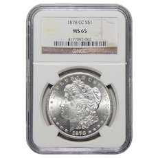 1878-CC Ngc MS65 Morgan Dollar