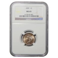 1859 Ngc MS65 Indian Head Cent