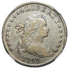 1797 Ngc XF45 10X6 Stars Draped Bust Dollar