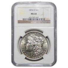 1894-O Ngc MS60 Morgan Dollar