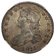1831 Ngc AU58 Capped Bust Half Dollar