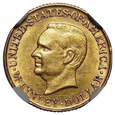 1917 Ngc AU55 $1 McKinley Gold