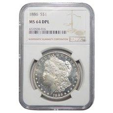 1886 Ngc MS64DPL Morgan Dollar