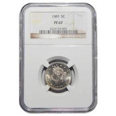 1889 Ngc PR67 Liberty Head Nickel