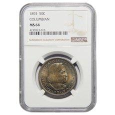 1893 Ngc MS64 Columbian Half Dollar
