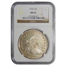 1799 Ngc MS65 Draped Bust Dollar