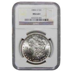 1884-O Ngc MS64+ Morgan Dollar