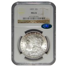1899 Ngc/Cac MS65 Morgan Dollar
