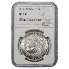 1921 Ngc Morgan MS64+ Morgan Dollar