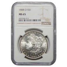 1888-O Ngc MS65 Morgan Dollar
