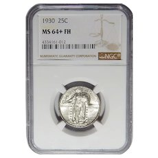 1930 Ngc MS64+FH Standing Liberty Quarter