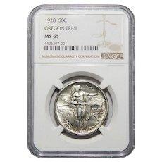 1928 Ngc MS65 Oregon Half Dollar