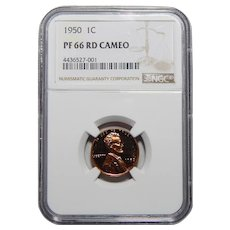 1950 Ngc PR66CAM Lincoln Wheat Cent
