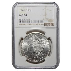 1901-S Ngc MS64 Morgan Dollar
