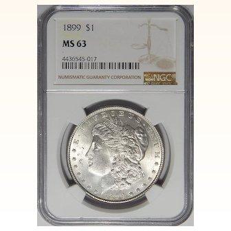 1899 Ngc MS63 Morgan Dollar