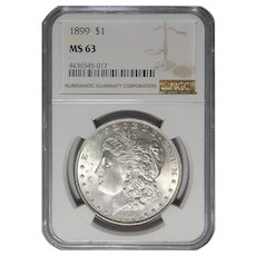 1899 Ngc MS63 Morgan Dollar