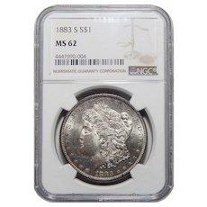1883-S Ngc MS62 Morgan Dollar